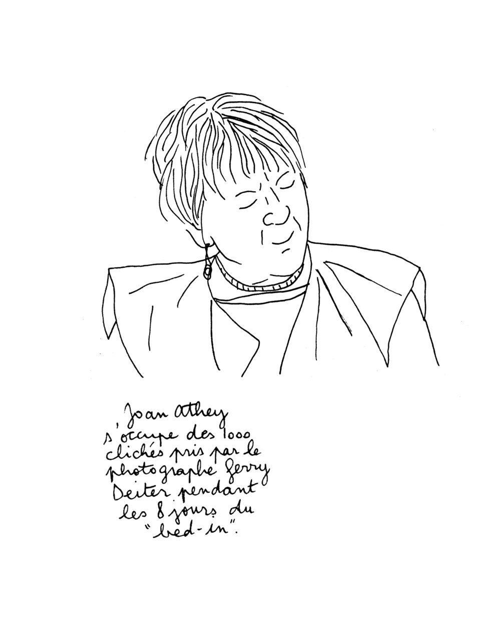 Yoko Ono et John Lennon: bed-in à Montreal - Joan Athey